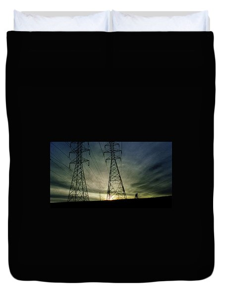 Duvet Cover featuring the photograph 4502 by Peter Holme III