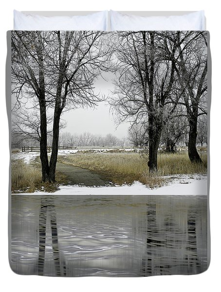 Duvet Cover featuring the photograph 4505 by Peter Holme III