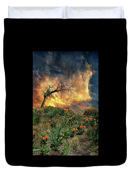 Duvet Cover featuring the photograph 4509 by Peter Holme III