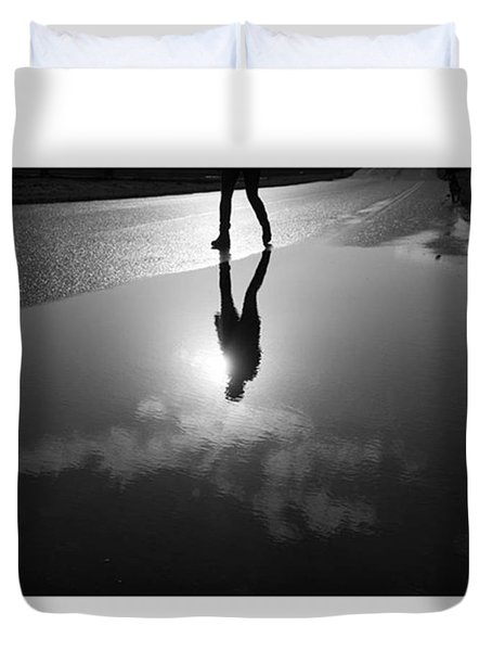 Walking Duvet Cover