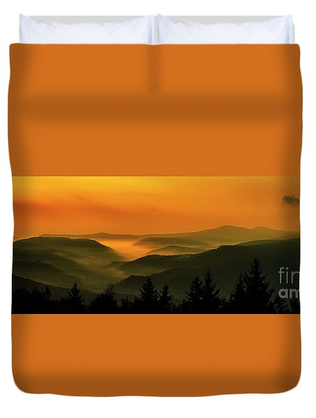 Duvet Cover featuring the photograph Allegheny Mountain Sunrise by Thomas R Fletcher