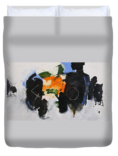 Duvet Cover featuring the painting 46 by Cliff Spohn