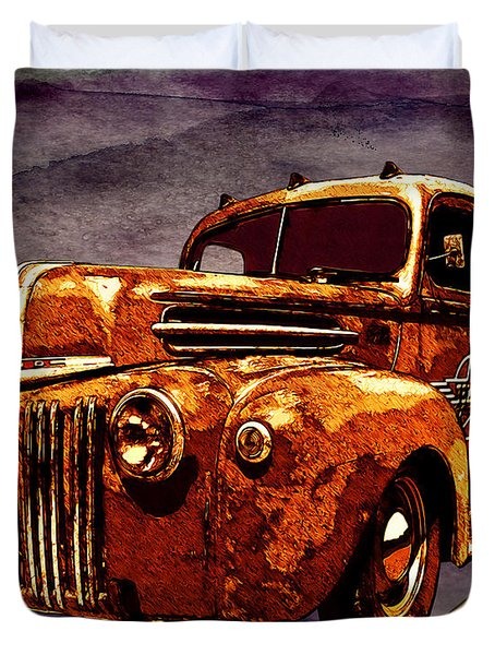 46 Ford Flatbed Redux From The Laboratories At Vivachas Duvet Cover