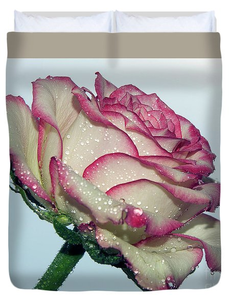 Beautiful Rose Duvet Cover by Elvira Ladocki