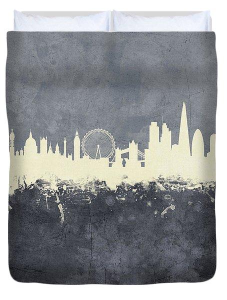 London England Skyline Duvet Cover