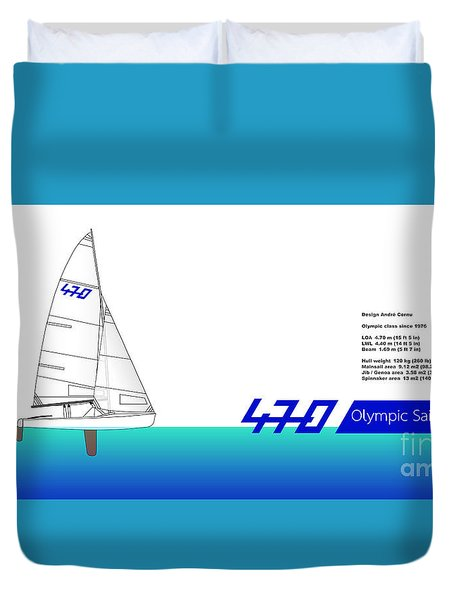 470 Olympic Sailing Duvet Cover