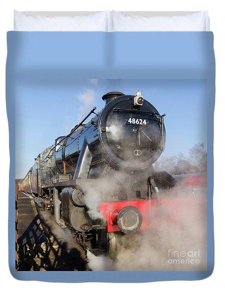 48624 Steam Locomotive Duvet Cover by Steev Stamford