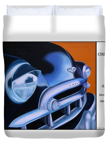 49 Chevy Poster Duvet Cover