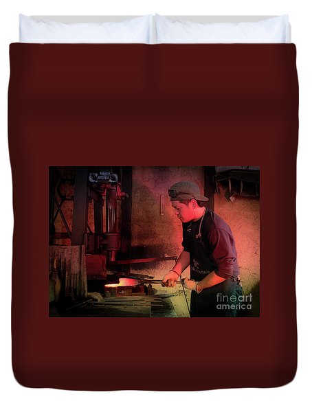 4th Generation Blacksmith, Miki City Japan Duvet Cover
