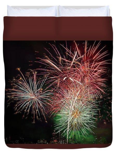 4th Of July Fireworks Display Portland Oregon Duvet Cover by David Gn