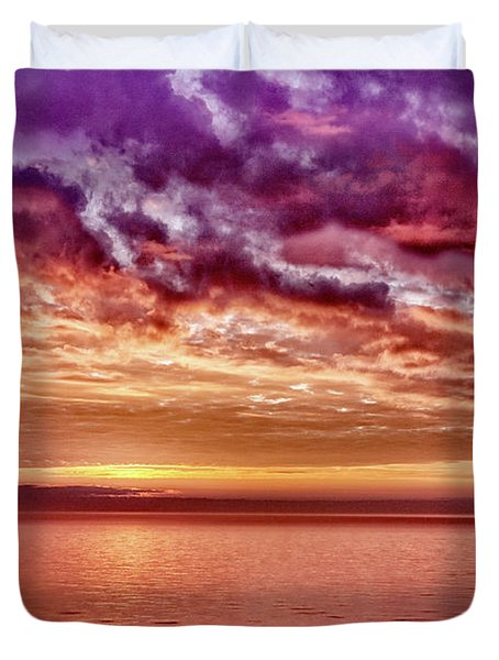 4th Of July Sunset Duvet Cover