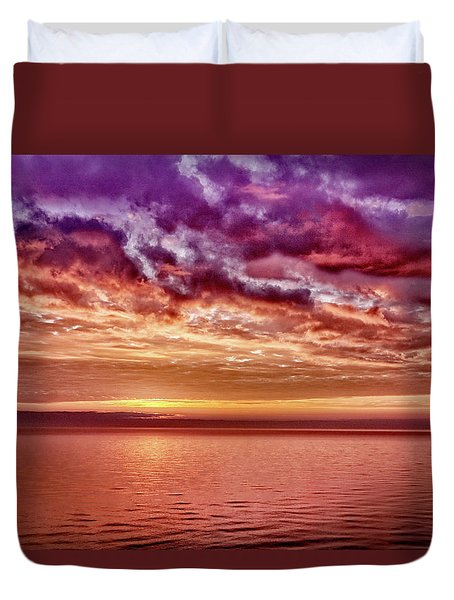 4th Of July Sunset Duvet Cover
