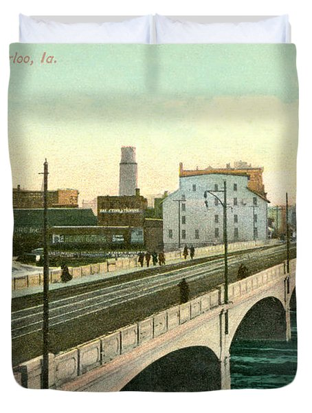 4th Street Bridge Waterloo Iowa Duvet Cover