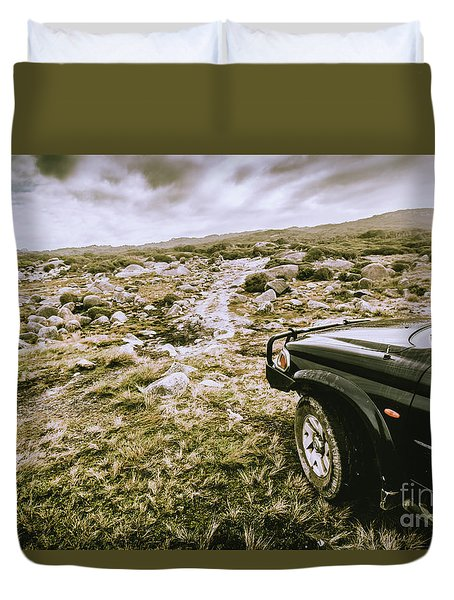 4wd On Offroad Track Duvet Cover
