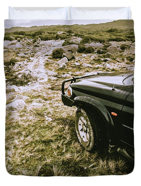 4x4 Tour Tasmania Duvet Cover