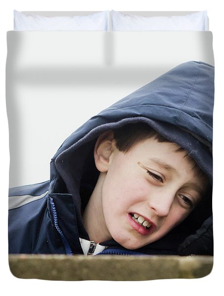 An Upset Child Duvet Cover