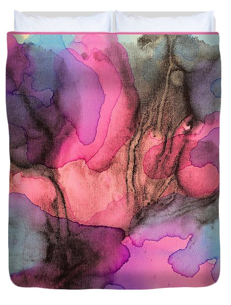 5 Art Abstract Painting Modern Color Signed Robert R Erod Duvet Cover