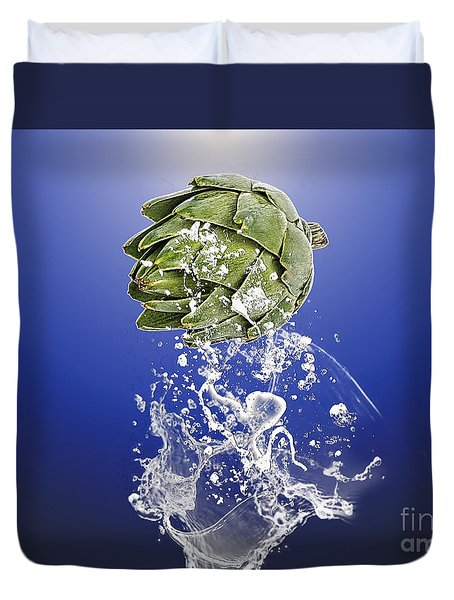 Artichoke Splash Duvet Cover