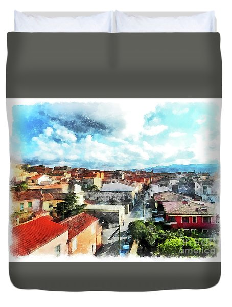 Arzachena Urban Landscape Duvet Cover