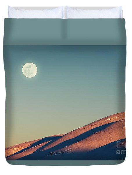 Beautiful Winter Landscape Duvet Cover