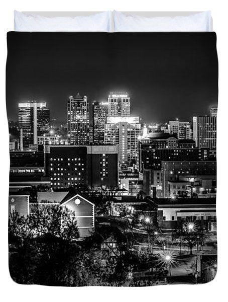 Birmingham Alabama Evening Skyline Duvet Cover