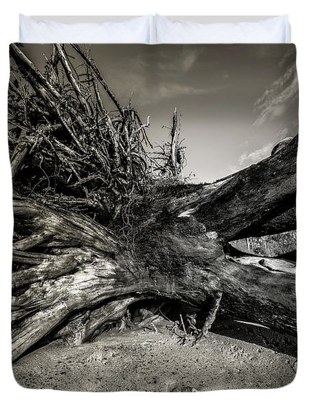 Duvet Cover featuring the photograph Black Rock Beach by Peter Lakomy