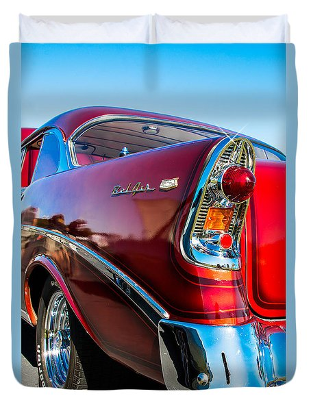 56 Chevy Bel Air Duvet Cover