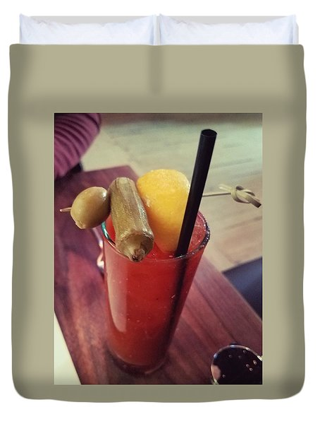 5 Church  St. Bloody Mary Duvet Cover by Missty Wise