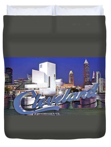Cleveland Ohio Duvet Cover