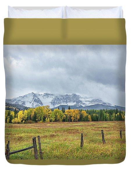 Colorado Fall Foliage Duvet Cover