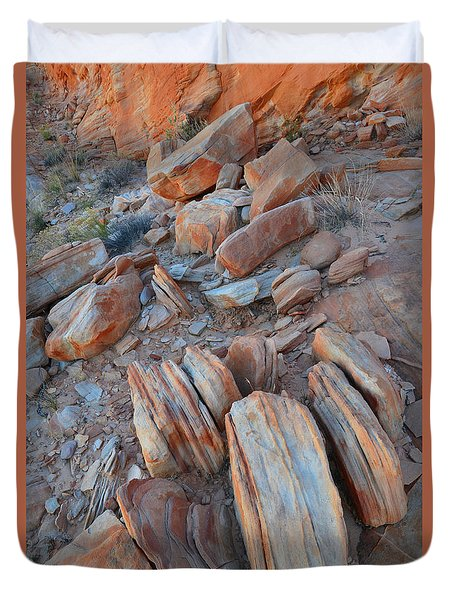 Duvet Cover featuring the photograph Colorful Cove In Valley Of Fire by Ray Mathis