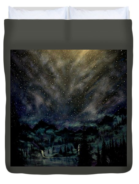 Cosmic Light Series Duvet Cover by Len Sodenkamp