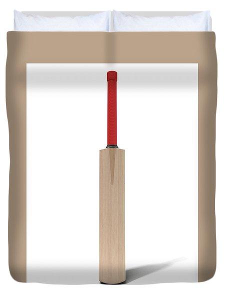 Cricket Bat Duvet Cover by Allan Swart