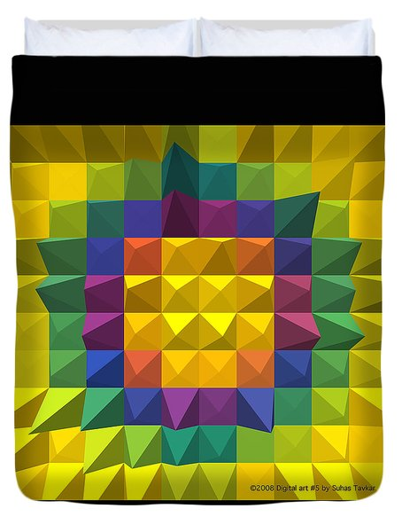 Digital Art Duvet Cover by Suhas Tavkar