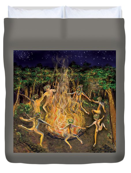 Dancing Naked In The Forest Cd Cover Duvet Cover