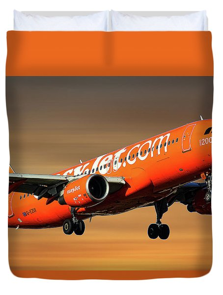 Easyjet 200th Airbus Livery Airbus A320-214 Duvet Cover