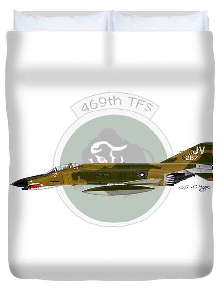 F-4e Phantom II Duvet Cover by Arthur Eggers