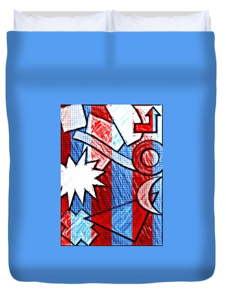 Funky Fanfare Duvet Cover by Kyle West