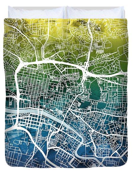 Glasgow Street Map Duvet Cover