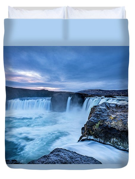 Godafoss Waterfall In Iceland Duvet Cover