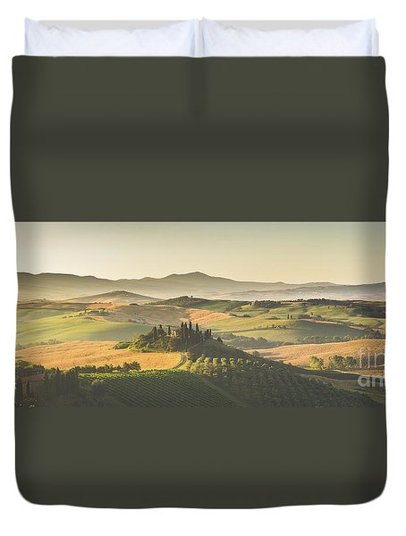 Golden Tuscany Duvet Cover by JR Photography