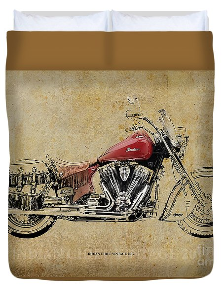 Indian Chief Vintage 2012 Duvet Cover
