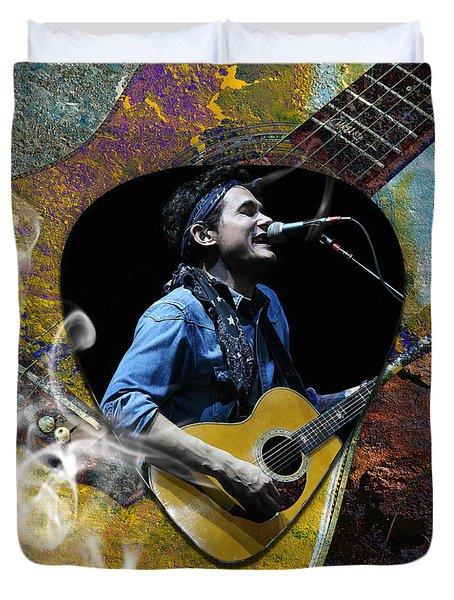 John Mayer Art Duvet Cover