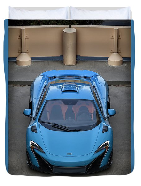 Duvet Cover featuring the photograph #mclaren #675lt #print by ItzKirb Photography