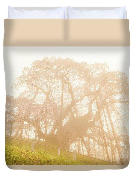 Duvet Cover featuring the photograph Miharu Takizakura Weeping Cherry06 by Tatsuya Atarashi
