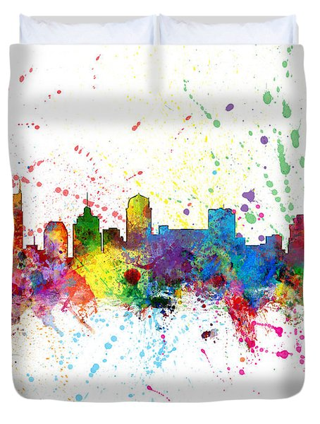 Nashville Tennessee Skyline Duvet Cover by Michael Tompsett