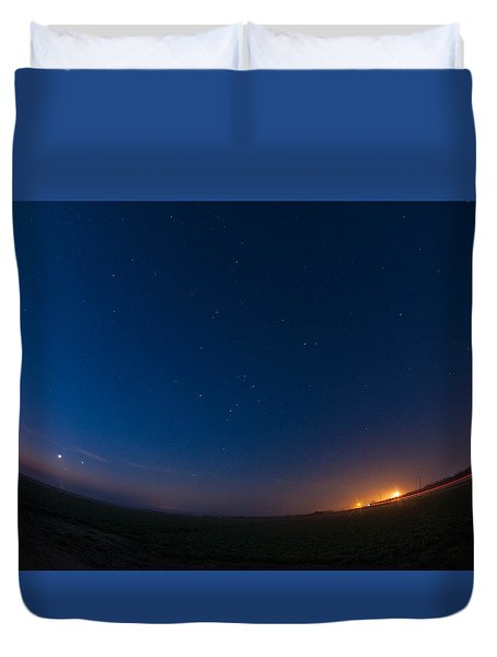 5 Planet Alignment 2016 Duvet Cover