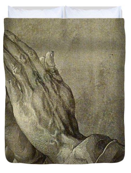 Praying Hands Duvet Cover
