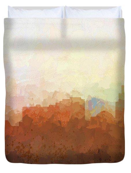 Duvet Cover featuring the digital art Reno Nevada Skyline by Marlene Watson