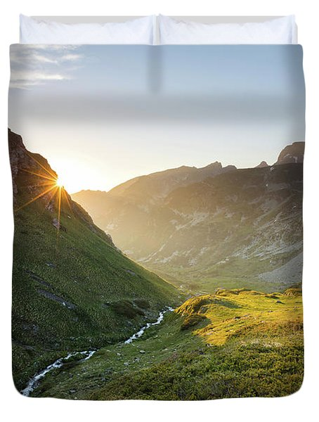 Rila Mountain Duvet Cover by Evgeni Dinev